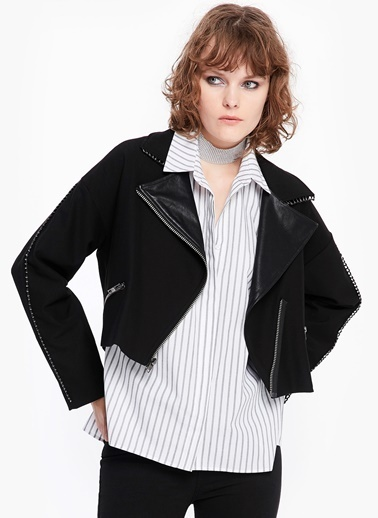 Twist Kısa Ceket Siyah